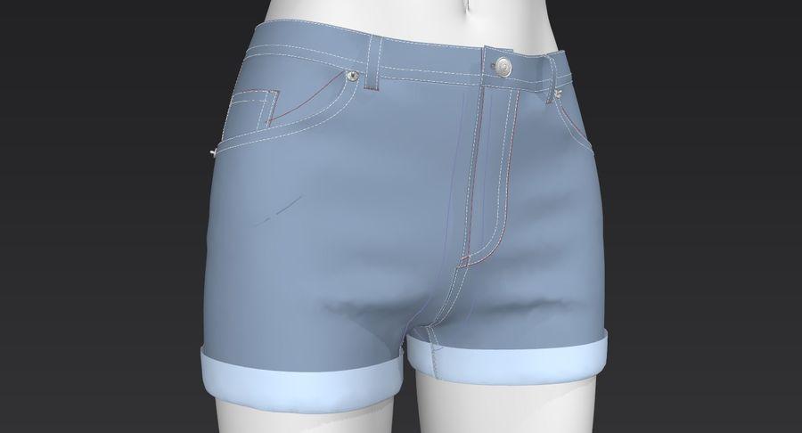 Jeansshorts für Frauen royalty-free 3d model - Preview no. 13