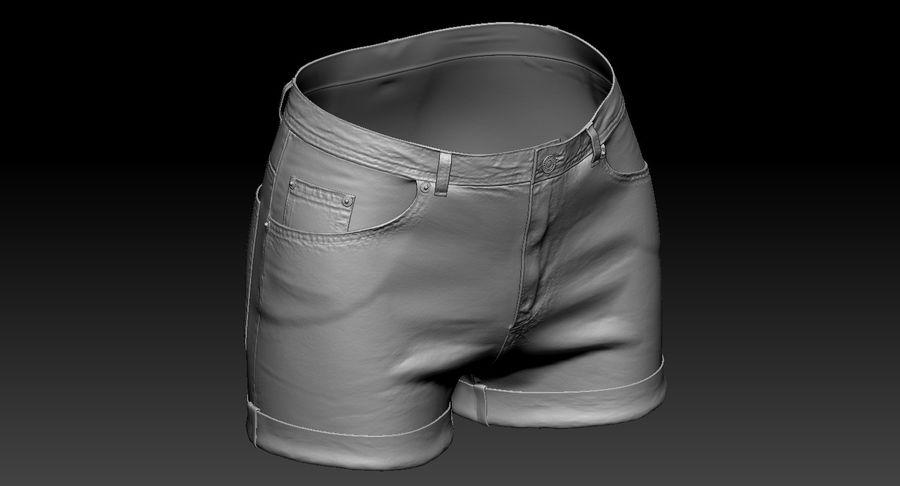 Jeansshorts für Frauen royalty-free 3d model - Preview no. 14