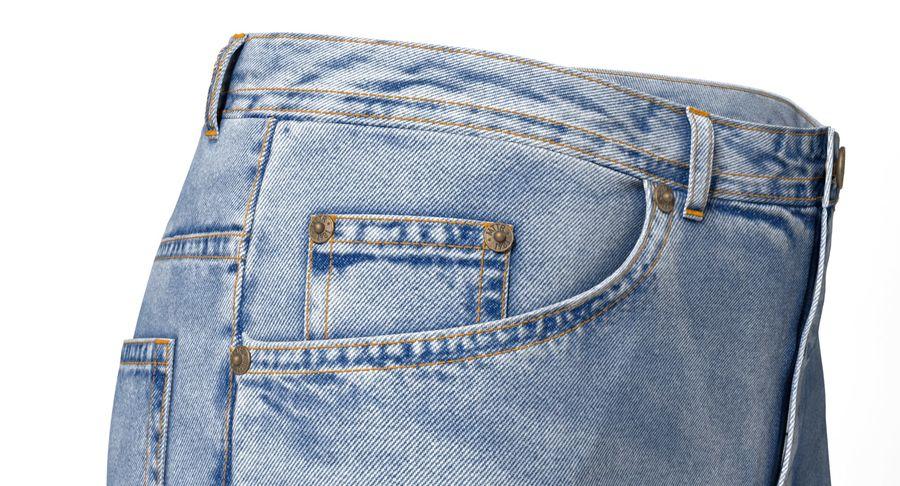 Jeansshorts für Frauen royalty-free 3d model - Preview no. 6