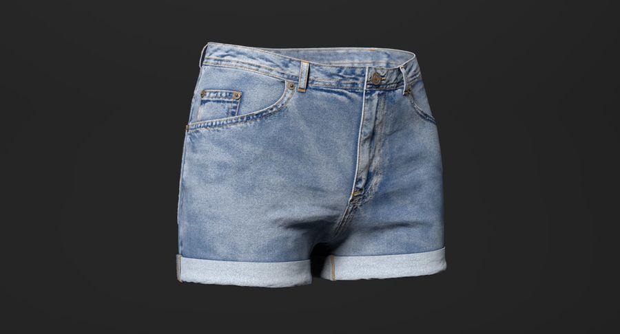 Jeansshorts für Frauen royalty-free 3d model - Preview no. 2