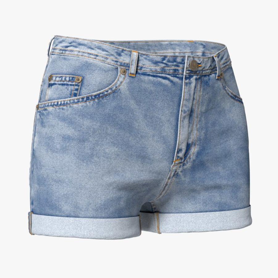 Jeansshorts für Frauen royalty-free 3d model - Preview no. 1