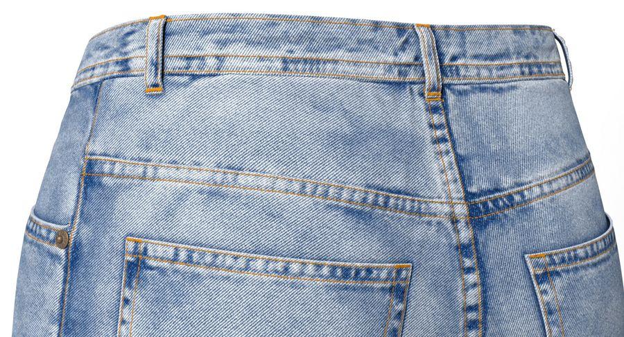 Jeansshorts für Frauen royalty-free 3d model - Preview no. 5