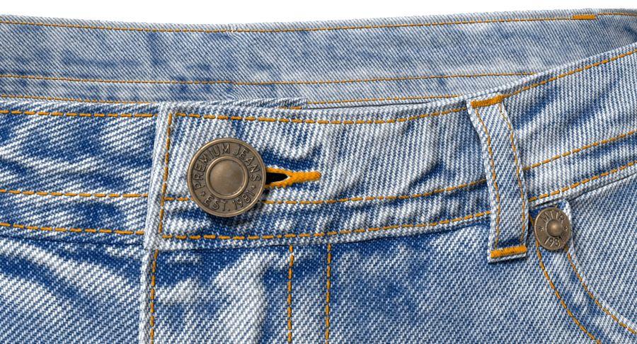 Jeansshorts für Frauen royalty-free 3d model - Preview no. 7