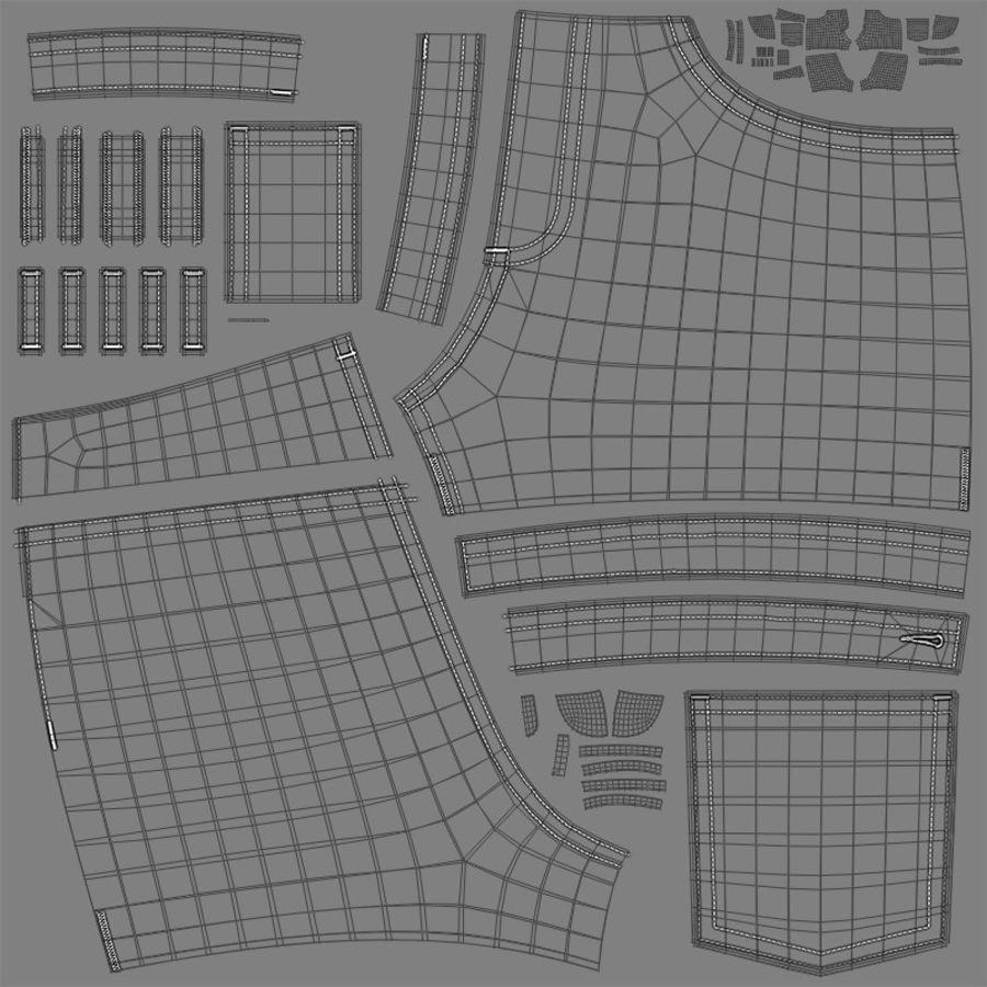 Jeansshorts für Frauen royalty-free 3d model - Preview no. 12