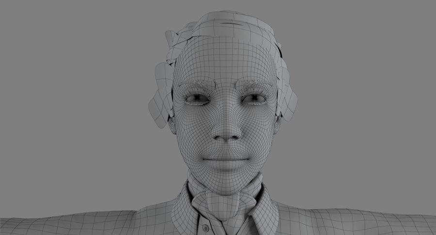 스튜어디스-백인 royalty-free 3d model - Preview no. 10