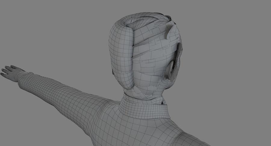 스튜어디스-백인 royalty-free 3d model - Preview no. 9