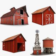 Здания фермы 3d model