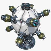 Sci-fi kernreactor 3d model