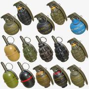 Pack de grenades 03 3d model