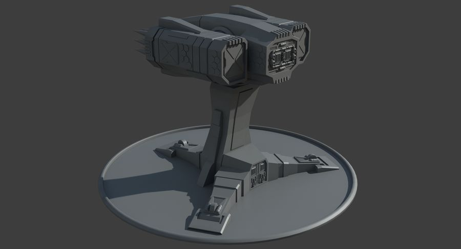 Missile Launcher royalty-free 3d model - Preview no. 16