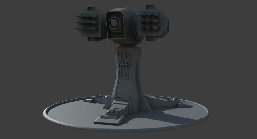 Missile Launcher royalty-free 3d model - Preview no. 8