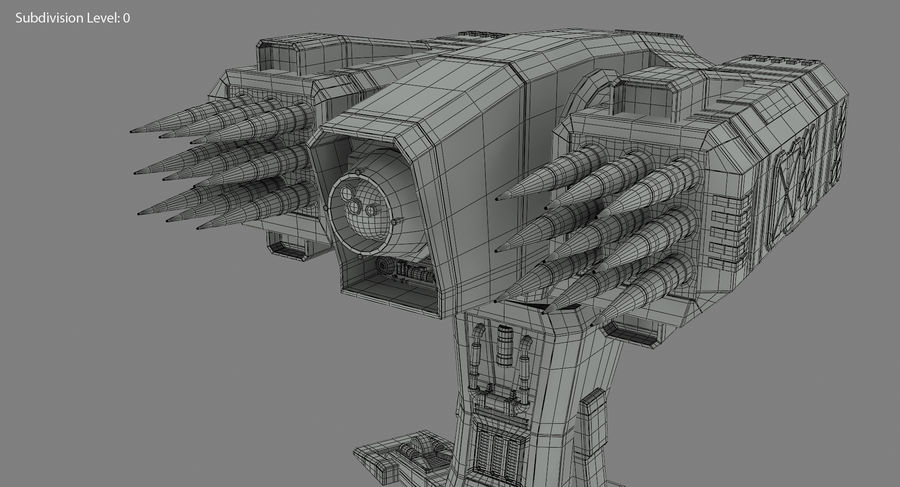 Missile Launcher royalty-free 3d model - Preview no. 21