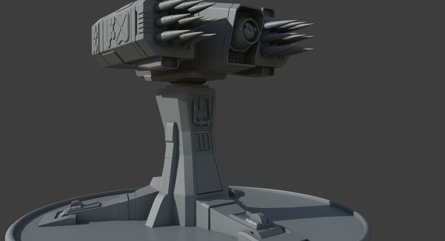 Missile Launcher royalty-free 3d model - Preview no. 10