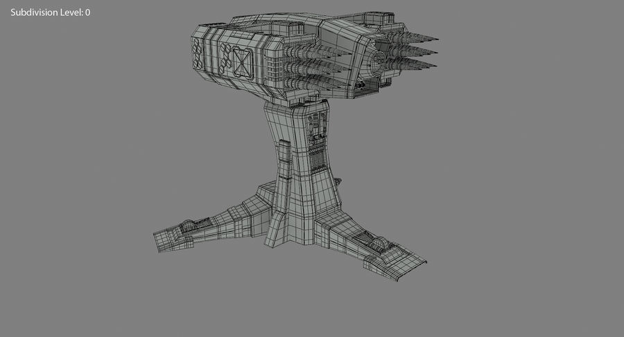 Missile Launcher royalty-free 3d model - Preview no. 17
