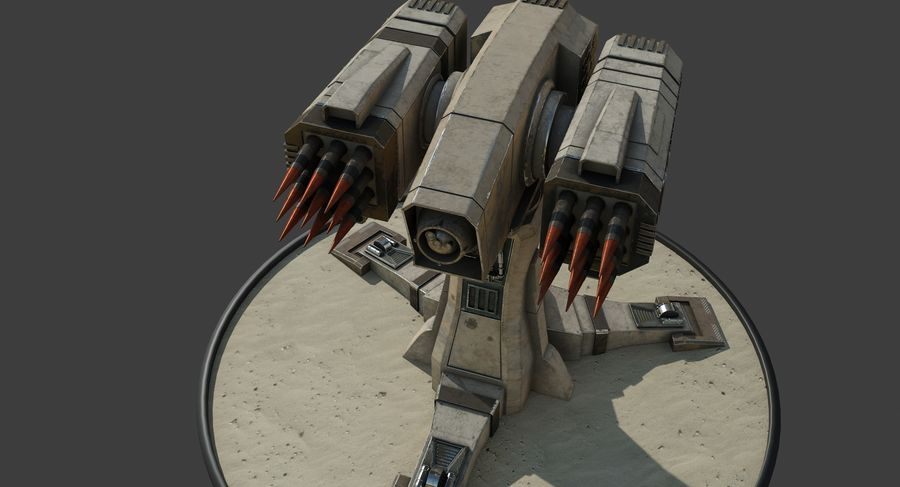 Missile Launcher royalty-free 3d model - Preview no. 11
