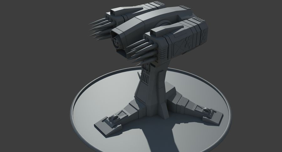Missile Launcher royalty-free 3d model - Preview no. 14
