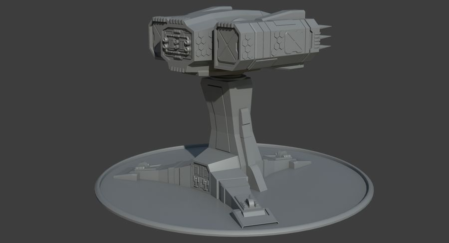 Missile Launcher royalty-free 3d model - Preview no. 6