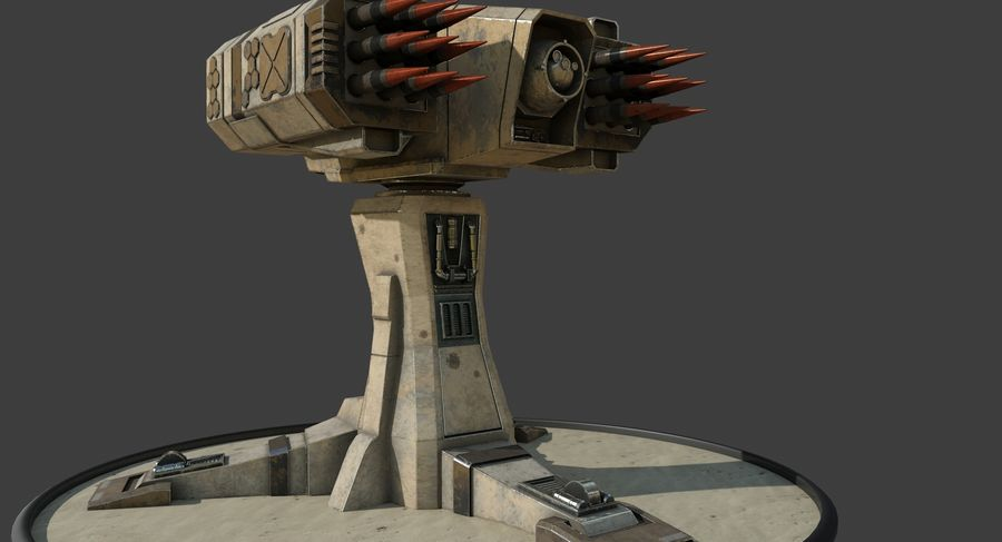 Missile Launcher royalty-free 3d model - Preview no. 9