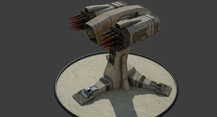 Missile Launcher royalty-free 3d model - Preview no. 13