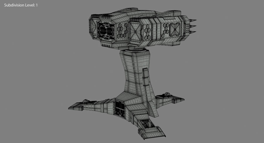 Missile Launcher royalty-free 3d model - Preview no. 20