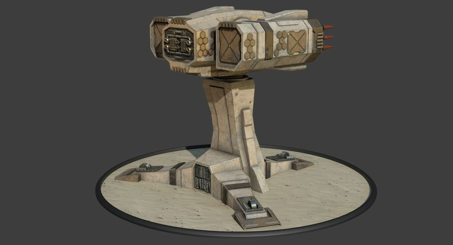 Missile Launcher royalty-free 3d model - Preview no. 5