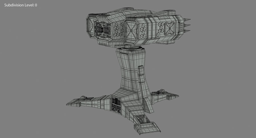 Missile Launcher royalty-free 3d model - Preview no. 19