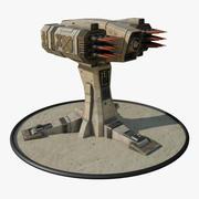 Lanzador de misiles modelo 3d