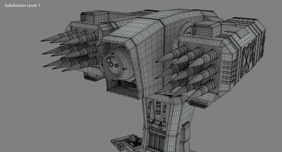 Missile Launcher royalty-free 3d model - Preview no. 22