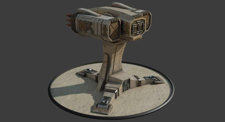 Missile Launcher royalty-free 3d model - Preview no. 15