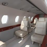 Interni Business Jet 3d model