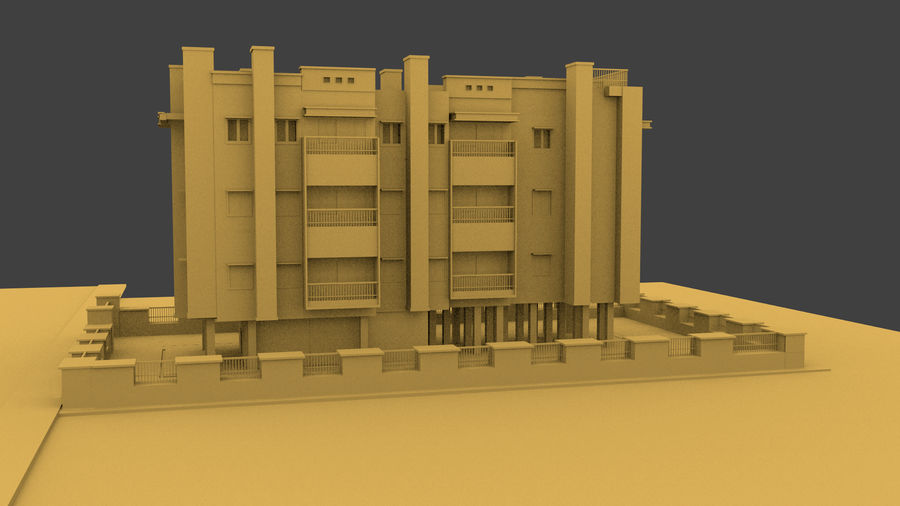 Exterior building royalty-free 3d model - Preview no. 3