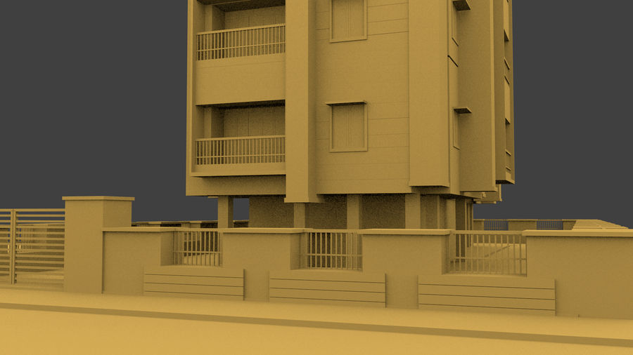 Exterior building royalty-free 3d model - Preview no. 7