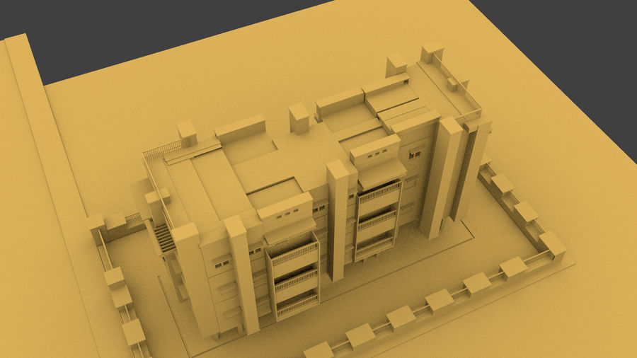Exterior building royalty-free 3d model - Preview no. 5
