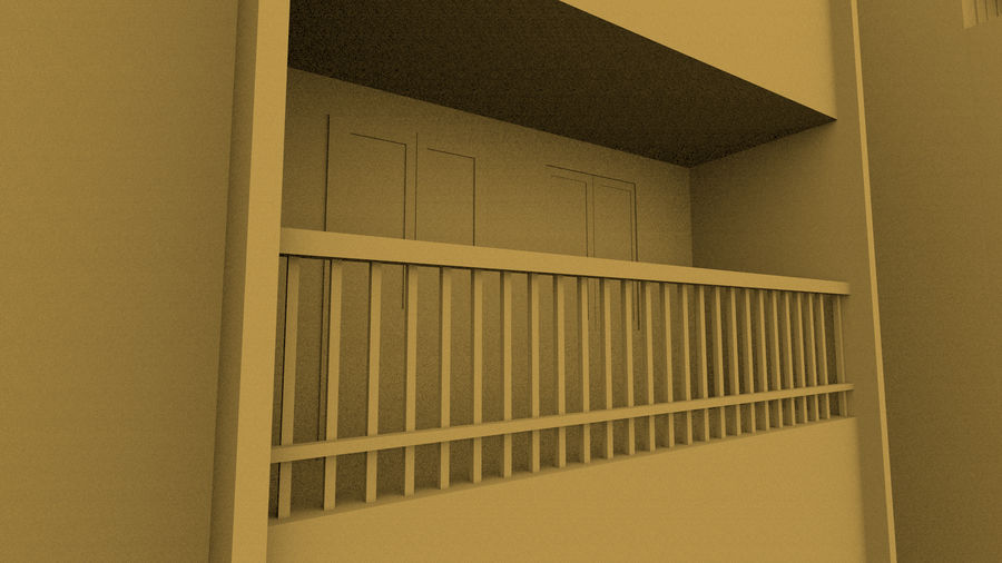 Exterior building royalty-free 3d model - Preview no. 10