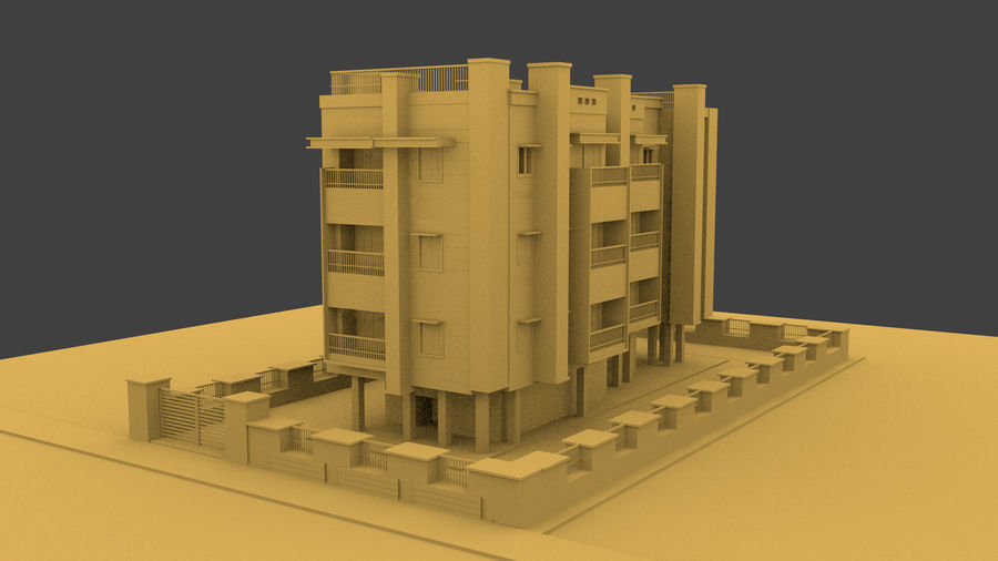 Exterior building royalty-free 3d model - Preview no. 2