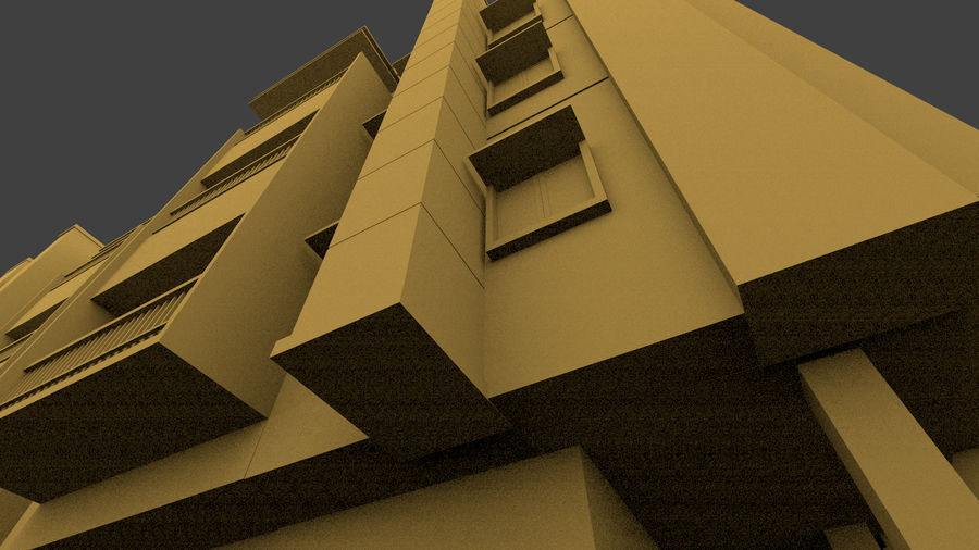 Exterior building royalty-free 3d model - Preview no. 8
