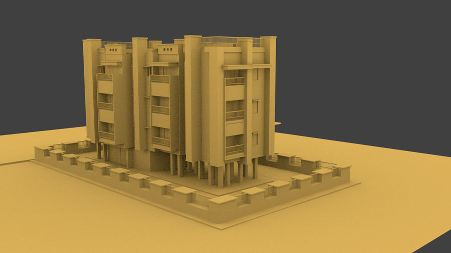 Exterior building royalty-free 3d model - Preview no. 4