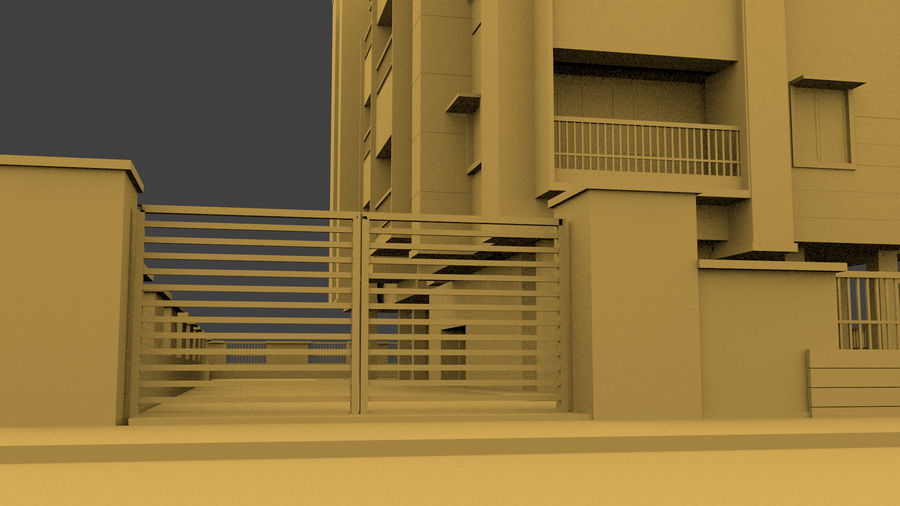 Exterior building royalty-free 3d model - Preview no. 6