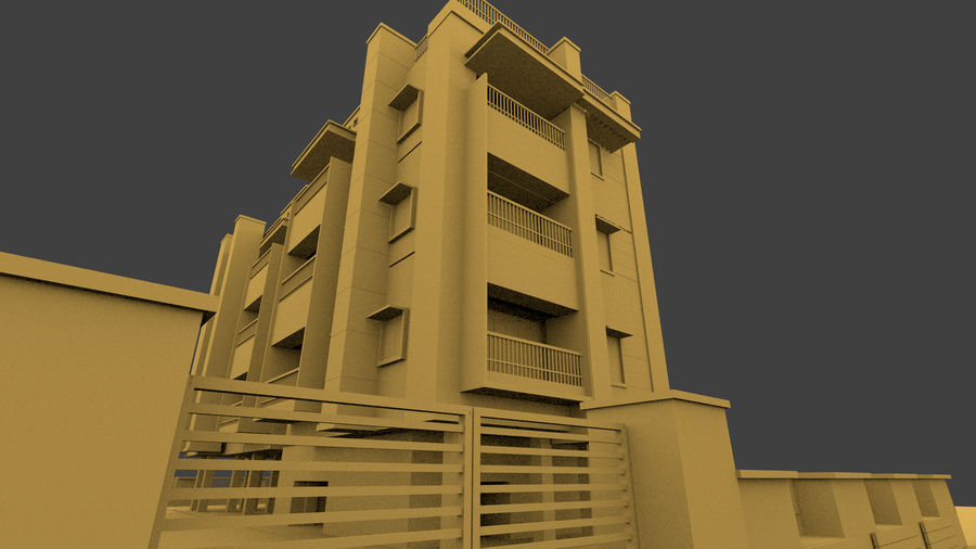Exterior building royalty-free 3d model - Preview no. 9