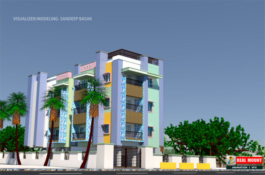 Exterior building royalty-free 3d model - Preview no. 1