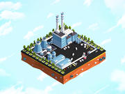 Cartoon Low Poly City Factory 3d model