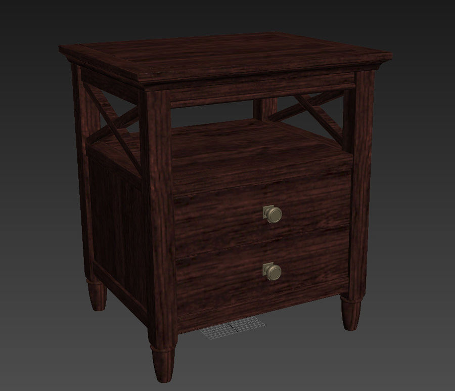 FM-NS08_Nightstand royalty-free 3d model - Preview no. 5