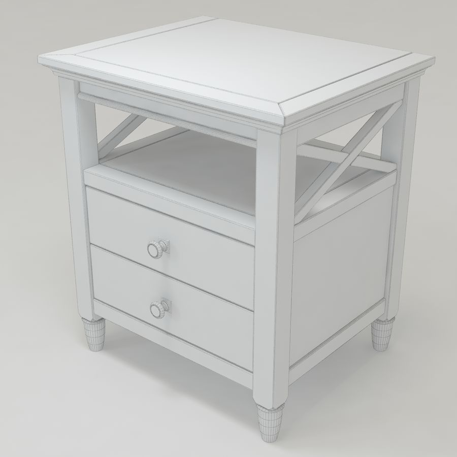 FM-NS08_Nightstand royalty-free 3d model - Preview no. 4