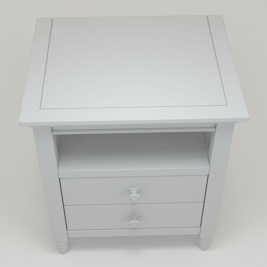 FM-NS08_Nightstand royalty-free 3d model - Preview no. 3
