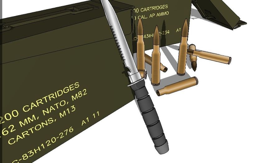 caixa de arma royalty-free 3d model - Preview no. 5