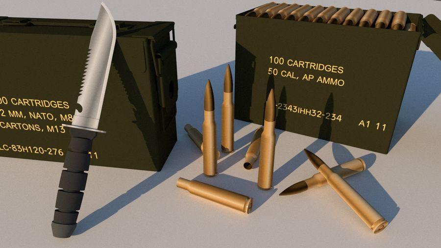 caixa de arma royalty-free 3d model - Preview no. 2