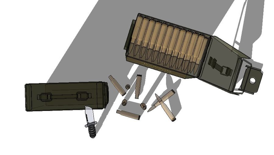 caixa de arma royalty-free 3d model - Preview no. 4