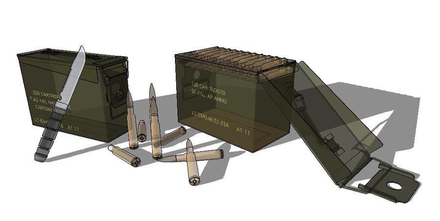 caixa de arma royalty-free 3d model - Preview no. 3