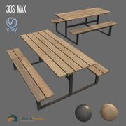 ławka zewnętrzna 3d model