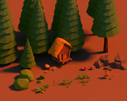 Lowpoly Forest Pack 3d model